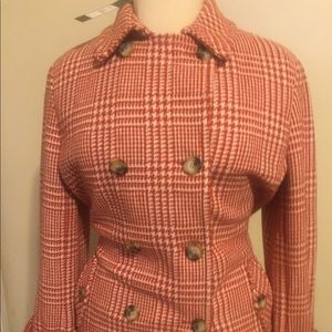 Talbots Houndstooth peacoat